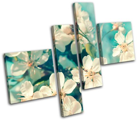 Cherry Blossom Teal Floral - 13-0334(00B)-MP02-LO